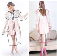 Wholesale 2015 Hot Sale Fashion Women s Rainwear Transparent EVA Raincoat Outdoor Traval Waterproof Rain Coat Colors