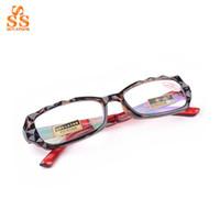 aspheric lens reading glasses - High End Fashion Brand Women Elegant Presbyopic Glasses Aspheric Hard Resin Lens Diamond Cutting Frame Reading Eyewear G416