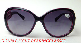 2017 à double lampe de lecture anti UV400 soleil presbytes verres à double lumière de lecture de la femme à double lampe de lecture offres