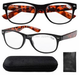 Vidrios del caminante en Línea-Eyekepper R011 bisagras de muelle de 80 Wayfarer gafas de lectura con el caso de Demi brazo + 0,5 / 0,75 / 1 /1.25/ 1,5 / 1,75 /2/2.25 /2.5 /2.75/4