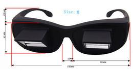 Tv prisma en Línea-Nueva perezoso creativo periscopio horizontal lectura de TV Sit gafas de vista en cama Lie Down Vidrios Prisma de ojos Tamaño S