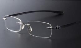 Brand designer Vintage light eyeglasses frame rimless men Women fashion computer reading glasses wholesale lmo-017 free shipping