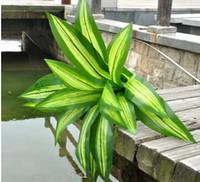 Cheap 55cm Brazilian Green plastic grass in Bonsai Artificial flowers trees home decoration 18 leaves plastic flowers