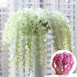 Romantic Classic Artificial Wisteria Silk Flower Home Party Wedding Garden Floral Decoration DIY Living Room Valentine Day