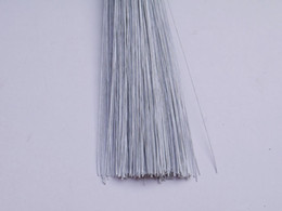 24#white silk flower white paper covered wire 100pieces cake accessory wire 100pieces
