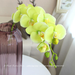 Wholesale Real Touch Gluing Silk Artificial Butterfly Orchid Decorative Flowers Home Decor Wedding Decoration Colors