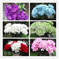 artificial seashells - 7 head silk fleece seashells hydrangea ball home decoration Wedding Bouquet Artificial Flowers Colors Available