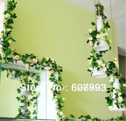 Faux rose vine silk rose ivy,artificial flowers vine,wedding party christmas decoration floral arrangement , free shipping