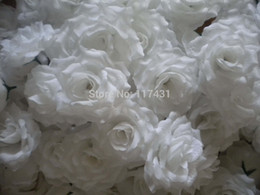 100 pcs white Artificial Simulation Silk Blossom rose Peony Flower Head Diameter 8cm Wedding Decoration Flowers