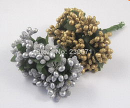 HR02,Mixed Colors Mulberry wedding Flower Bouquet wire stem Scrapbooking Flower simulation flowers wedding box decoration
