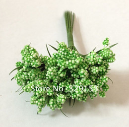 Green foam flower bud with wire stem DIY craft ,144pcs lot