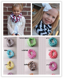 Wholesale New Girl and Boy Children Chevron Wave Print Scarf Circle Loop Kids Infinity Scarves Baby Accessories