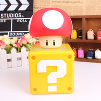 bank deposits - Super Mario Bros Coin Bank Mushroom Figure Toys Dolls Piggy Bank Deposit Coins For An Authentic Game Sound SMFG242