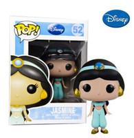 aladdin figures - NEW Genuine FUNKO POP cm Aladdin Jasmine action figure Bobble Head Q Edition new box for Car Decoration