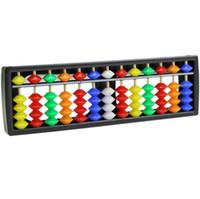 abacus mathematics - Portable Arithmetic Soroban w Mathematics Calculate Tool Colorful Beads Abacus