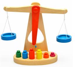 Wholesale 1Pcs Wooden Balance Scale Yakuchinone Brinquedos Educativos Libra Pendulum Early Learning Weight Child Kids Intelligence Toys