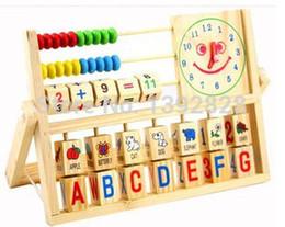 Descuento reloj digital de la geometría Nuevos aprendizajes educativos del bebé del reloj regalo de los juguetes de madera Reloj Geometría Matemáticas juguete mejor regalo digital para niños de 1pc