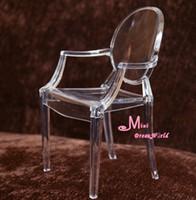 arm chair furniture - Tranparent Plastic Arm Chair Plastic Colours Scale Dollhouse Miniature Furniture Monster high