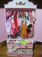 doll clothes hangers - doll mini furniture wardrobe moirror clothes shoes hangers for barbie doll kurhn doll