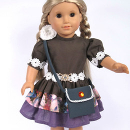 Wholesale Doll Clothes Fits quot American Girl Dolls Doll Dress Party Dress Handbag Girl Birthday Present Xmas Gift G04