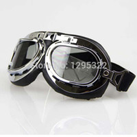 aviator goggles motorcycle - Scooter Goggle Glasses Aviator Pilot Ski Motorcycle Bike ATV Goggle Clear Lens Free shippping Se