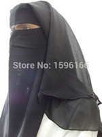 Wholesale layers Niqab Nikab fancy Hijab veil Face cover islamic muslim