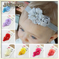 Cheap acessorios para cabelo frozen baby toddler rose flower pearl headband hair piece accessories child handband girl free shipping