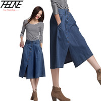 Cheap Plus Size Long Jeans Skirt | Free Shipping Plus Size Long