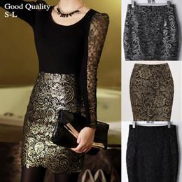 Golden Pencil Skirt Online | Golden Pencil Skirt for Sale