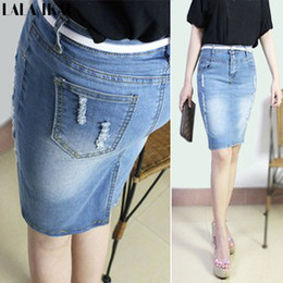 Denim High Waist Jeans Skirts Suppliers | Best Denim High Waist ...