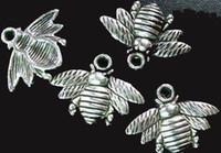 Wholesale 150pcs Tibetan silver cute bee charms x21mm A742