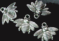 150pcs Tibetan silver cute bee charms 16x21mm A742