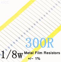 300 ohmios 1/8W 1% <b>Metal Film Resistor</b> 0.125W 300R Color anillo de resistencia (200Pcs/Lot) envío gratuito