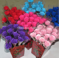 Wholesale PVC single carnation soap flower with diamond Wedding Rose soap flower Valentine s Day Mother s Day Teacher s