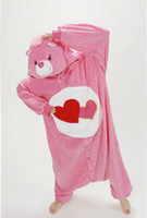 animal caring games - Anime Care Bear Love Bear Animal Adult Unisex Onesie for Women Men Cosplay Fleece Pajamas Christmas Party Dress