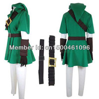 Wholesale Link Cosplay Costume The Legend of Zelda Cosplay Link Costume Halloween Cosplay Costume