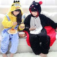 batman onesie - Anime Minions Despicable Me Batman Bat Children Kids Boy Girl Unisex Cosplay Onesie Winter Halloween Party Pajamas Costumes