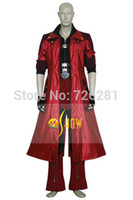 Cheap 2015 Hot Sell New Adult Cartoon Anime Character Costumes Men Faux Leather Devil May Cry Iv 4 Dante Cosplay Windbreaker Pants