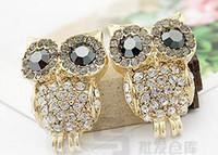 Wholesale 20pairs Euramerican popularity OWL Alloy Earrings Jewelry Earrings earrings Stud Earrings