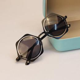 New Women Glasses Metal Frame Reflective Sunglasses Prismatic Shaped Eyewear