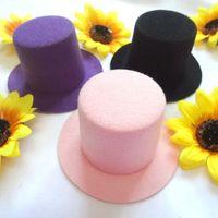 Wholesale 10pcs Fashion Plain Mini Top Hat Hen Party Mini Taller Top hat Children Girls Hair Fascinator Woman Tiara Headpiece DIY