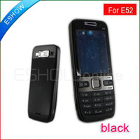 Wholesale Full housings faceplates Cover with Keypad for Nokia E52 New Black A0643A