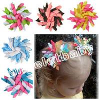 Curleurs enfants 20 pcs arcs de fleurs, barrettes pour cheveux Corker ruban Korker accessoires pince à cheveux de cheveux enfants PD007