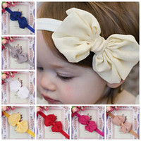 Cheap acessorios para cabelo hairband 2015 new arrival baby girl chiffon bow headband european style hair accessories free shipping