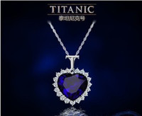 heart of the ocean - Titanic Heart of The Ocean Sapphire Crystal Chain Necklace Pendant Plate Jewelry