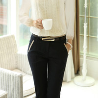 Wholesale New Women s Casual Trousers Fashion Women Work Wear Pants Good Quality Plus Size S XXXL