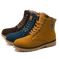 autumn winter fashionable shoes - New Frosted Leather Brand Fashionable Man Boots Snow Boots For Men Outdoor Work Shoes and Men s Autumn winter Shoes