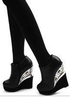 Women Other New Arrival Fashion Trend Gauze Hasp Rivet Platform Wedges