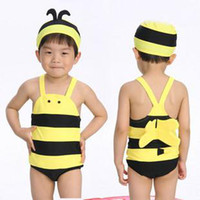 cute bee costume baby swimwear one- piece swimsuit with swim ...