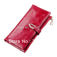 Wholesale Newest Top Quality Oil Waxing Genuine Leather Cowhide Wallet for Women Long Designer Multi card Wallet holder Women Purse